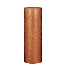 Buy John Lewis Rustic Effect Pillar Candle H22.5 x Dia.7.5cm Online at johnlewis.com
