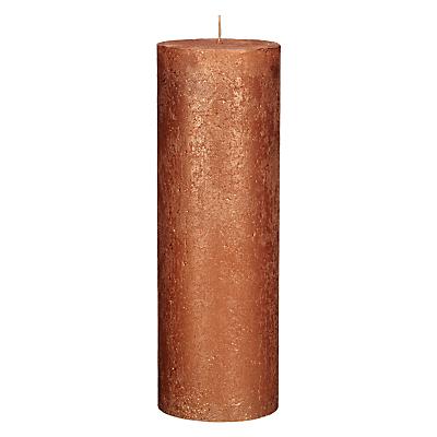John Lewis Rustic Effect Pillar Candle H28 x Dia.10cm
