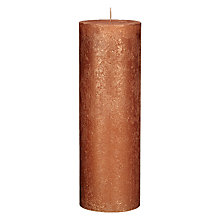 Buy John Lewis Rustic Effect Pillar Candle H28 x Dia.10cm Online at johnlewis.com