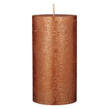 Buy John Lewis Rustic Effect Pillar Candle H15 x Dia.7.5cm Online at johnlewis.com