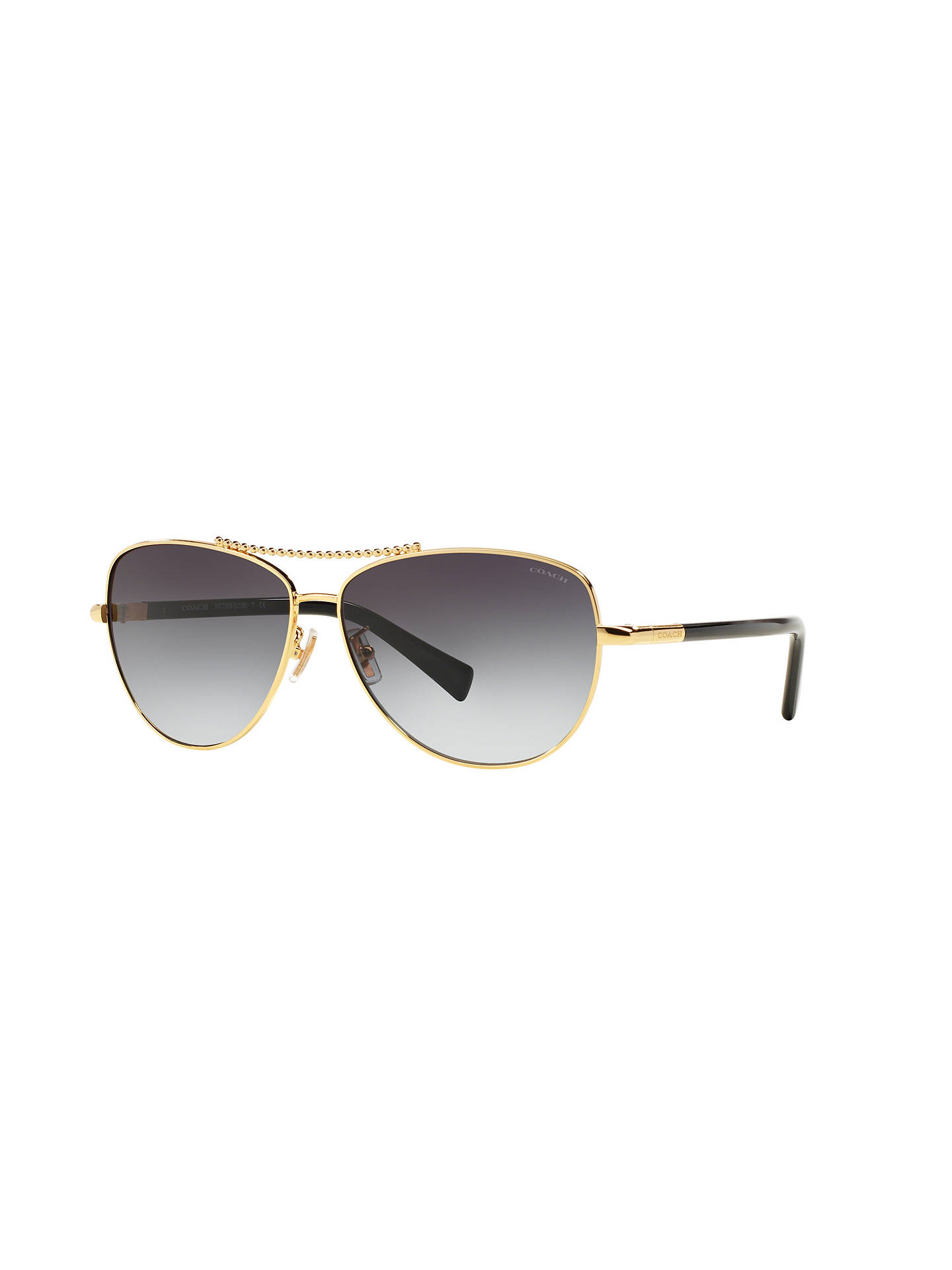51fabf75b7 ... coupon code buycoach hc7058 aviator sunglasses black gold online at  johnlewis eeea7 974b4
