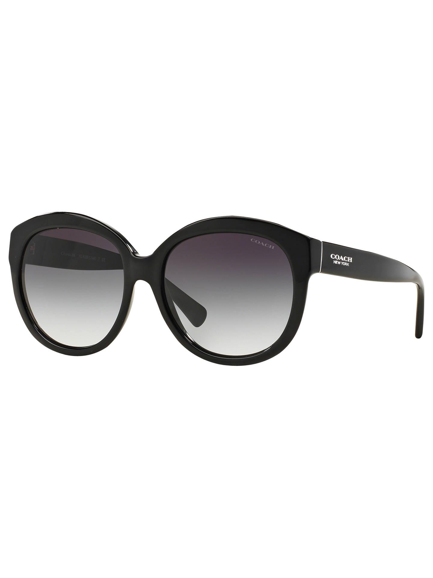 1353a3ad4845 Buy Coach HC8159 Gradient Round Sunglasses, Black Online at johnlewis.com  ...