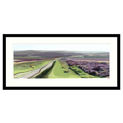 Jill Ray – Summer on the Moor Framed Print, 104 x 49cm