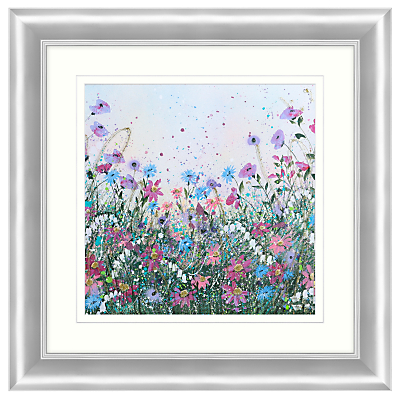 Jane Morgan – Wild Flower Sparkle #1 Embellished Framed Print, 71 x 71cm