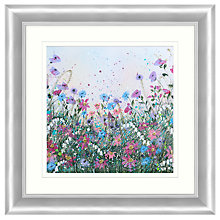 Buy Jane Morgan - Wild Flower Sparkle #1 Embellished Framed Print, 71 x 71cm Online at johnlewis.com