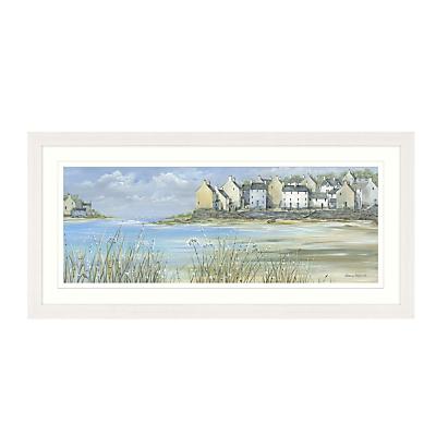 Diane Demirci – Coastal Town Panel Framed Print, 107 x 52cm