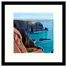 Buy Jill Ray - From The Cliff Framed Print, 54 x 54cm Online at johnlewis.com
