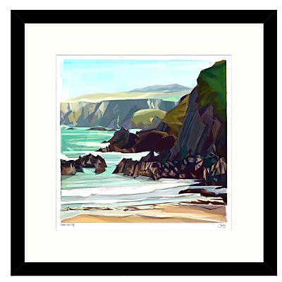 Jill Ray – Under The Cliff Framed Print, 54 x 54cm