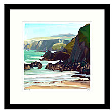 Buy Jill Ray - Under The Cliff Framed Print, 54 x 54cm Online at johnlewis.com
