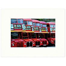 Buy Barbara Chandler - Hackney Bus Garage 1998 Unframed Print, 30 x 40cm Online at johnlewis.com