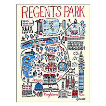 Buy Julia Gash - Regent's Park Unframed Print with Mount, 30 x 40cm Online at johnlewis.com