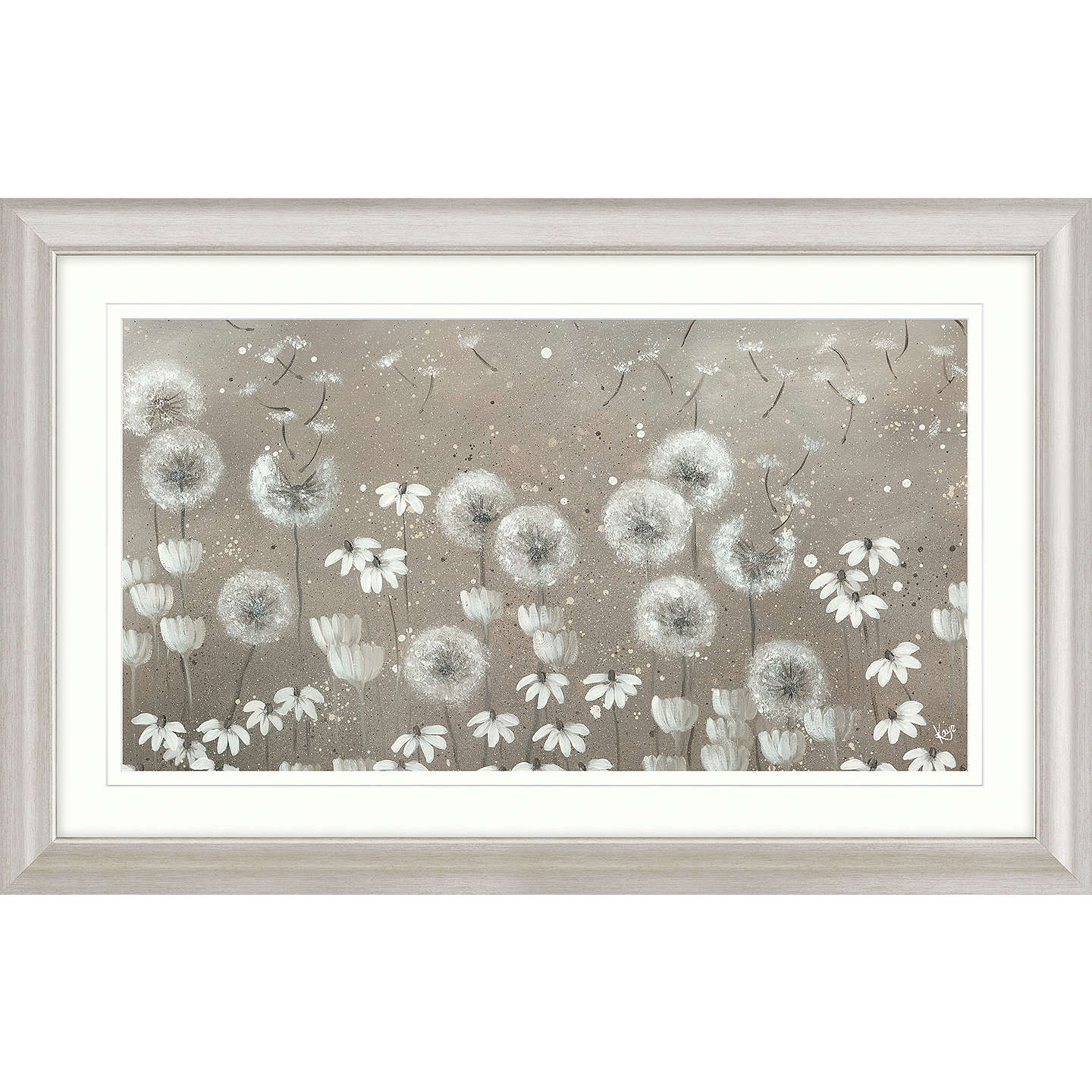 BuyKaye Lake - Day Dreaming Dandelions Framed Print, 110.5 x 70.5cm Online at johnlewis.com