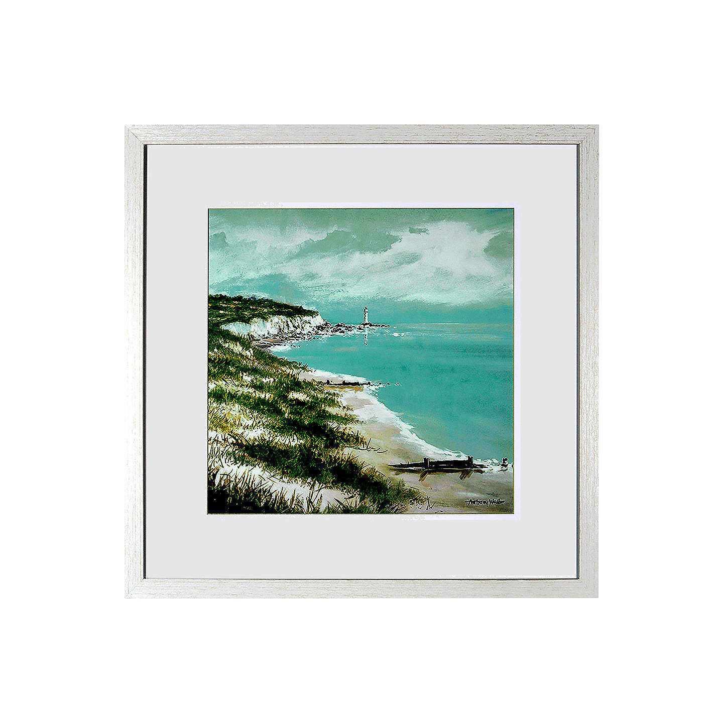 BuyAnthony Waller - Along The Coast Framed Print, 48 x 48cm Online at johnlewis.com