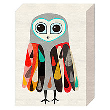 Buy Inaluxe - Owl Canvas Print, 20 x 15cm Online at johnlewis.com
