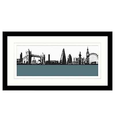 Jacky Al-Samarraie London Skyline Framed Print, 64 x 34cm