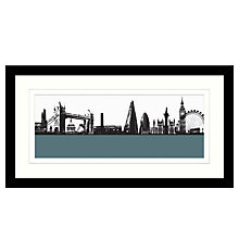 Buy Jacky Al-Samarraie London Skyline Framed Print, 64 x 34cm Online at johnlewis.com