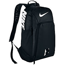 Buy Nike Alpha Adapt Rev Backpack, Black/White Online at johnlewis.com