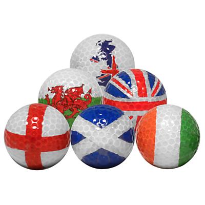 Longridge Flag Golf Balls Set, Pack of 6