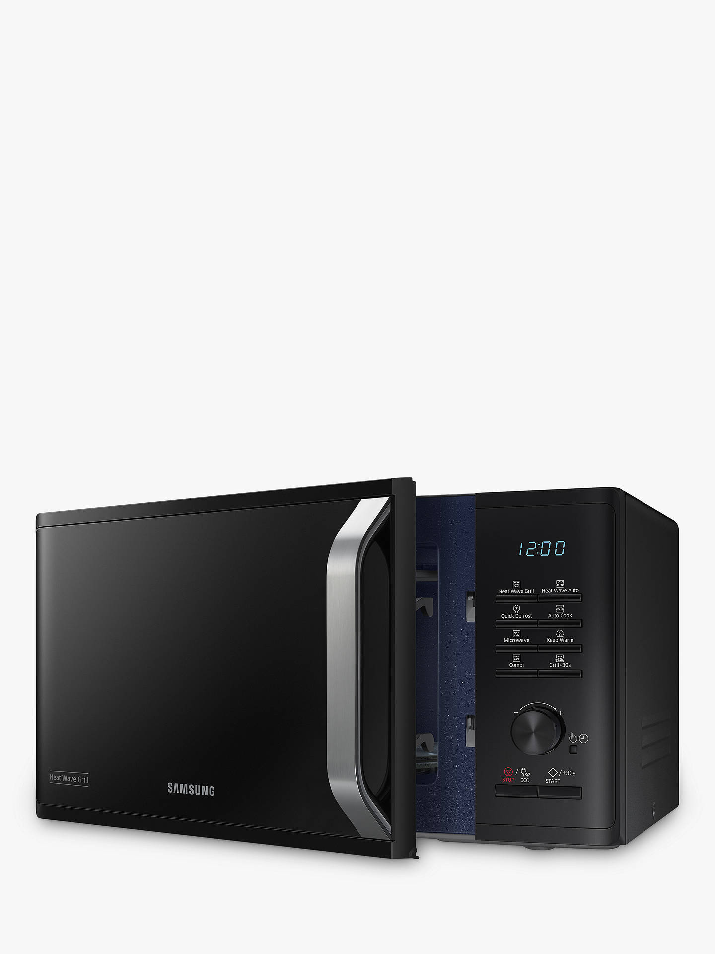 BuySamsung MG23K3575AK/EU Freestanding Microwave Oven with Grill, Black Online at johnlewis.com