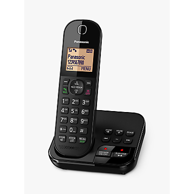 Panasonic KX-TGC420EB Digital Cordless Telephone with 1.6 Backlit LCD Screen, Nuisance Call Blocker & Answering Machine, Single DECT
