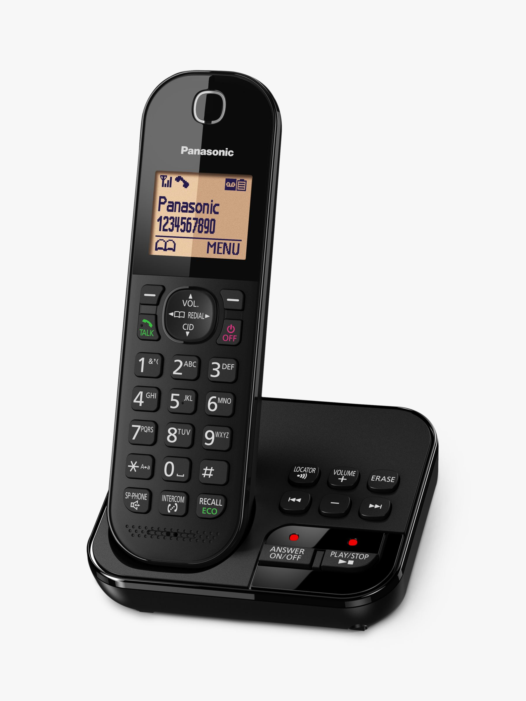 Panasonic Panasonic KX-TGC420EB Digital Cordless Telephone with 1.6 Backlit LCD Screen, Nuisance Call Blocker & Answering Machine, Single DECT