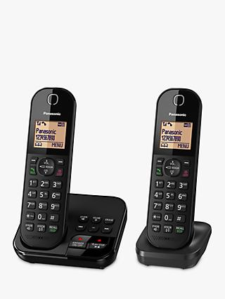 "Panasonic KX-TGC422EB Digital Cordless Telephone with 1.6"" Backlit LCD Screen, Nuisance Call Blocker & Answering Machine, Twin DECT"