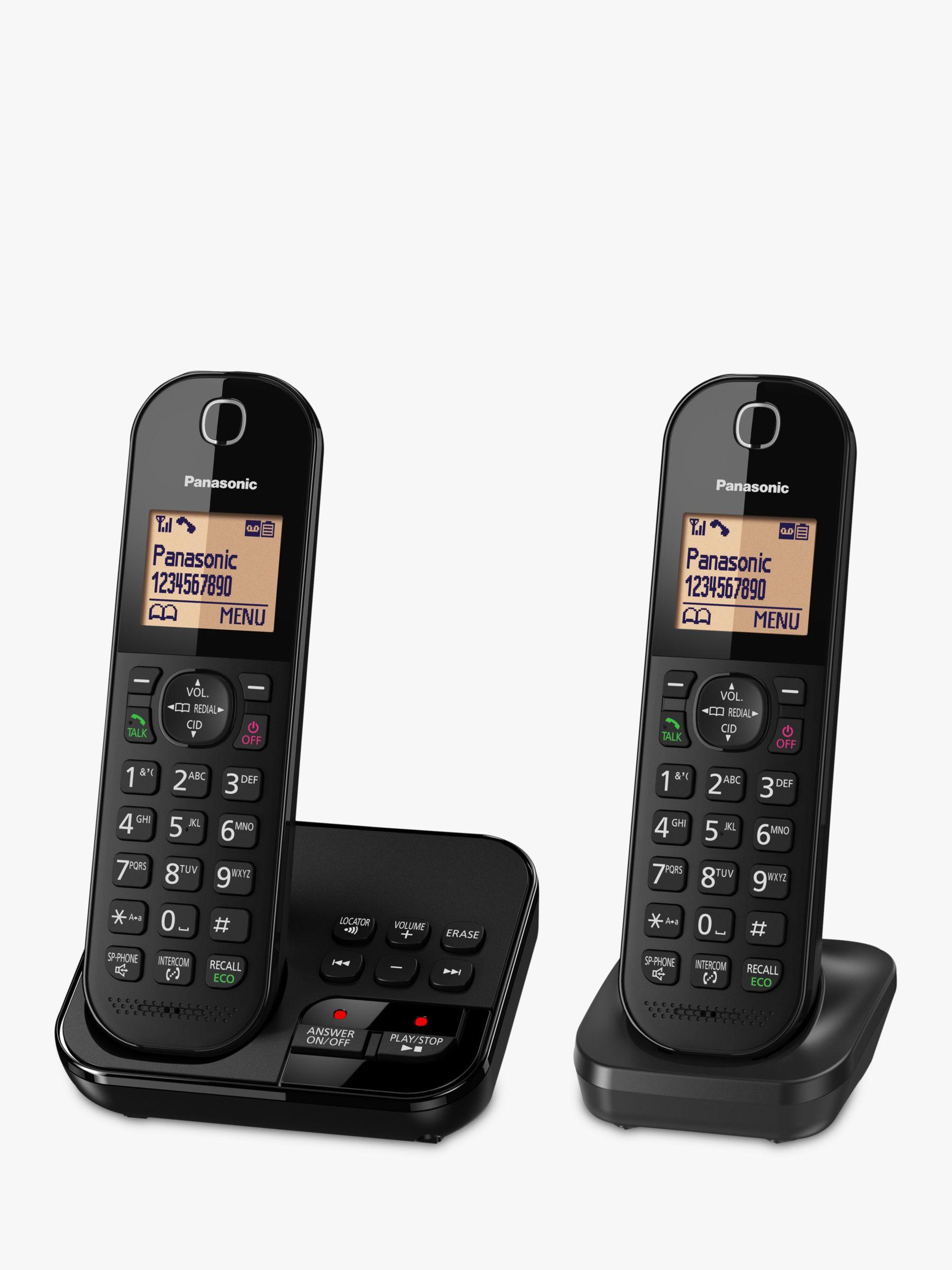 Panasonic Panasonic KX-TGC422EB Digital Cordless Telephone with 1.6 Backlit LCD Screen, Nuisance Call Blocker & Answering Machine, Twin DECT