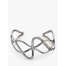 Buy Andea Sterling Silver Wide Plait Cuff, Silver Online at johnlewis.com