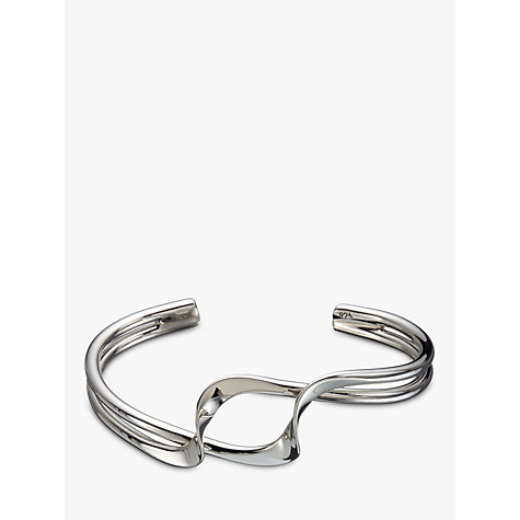 Buy Andea Sterling Silver Double Twist Half Bangle, Silver Online at johnlewis.com