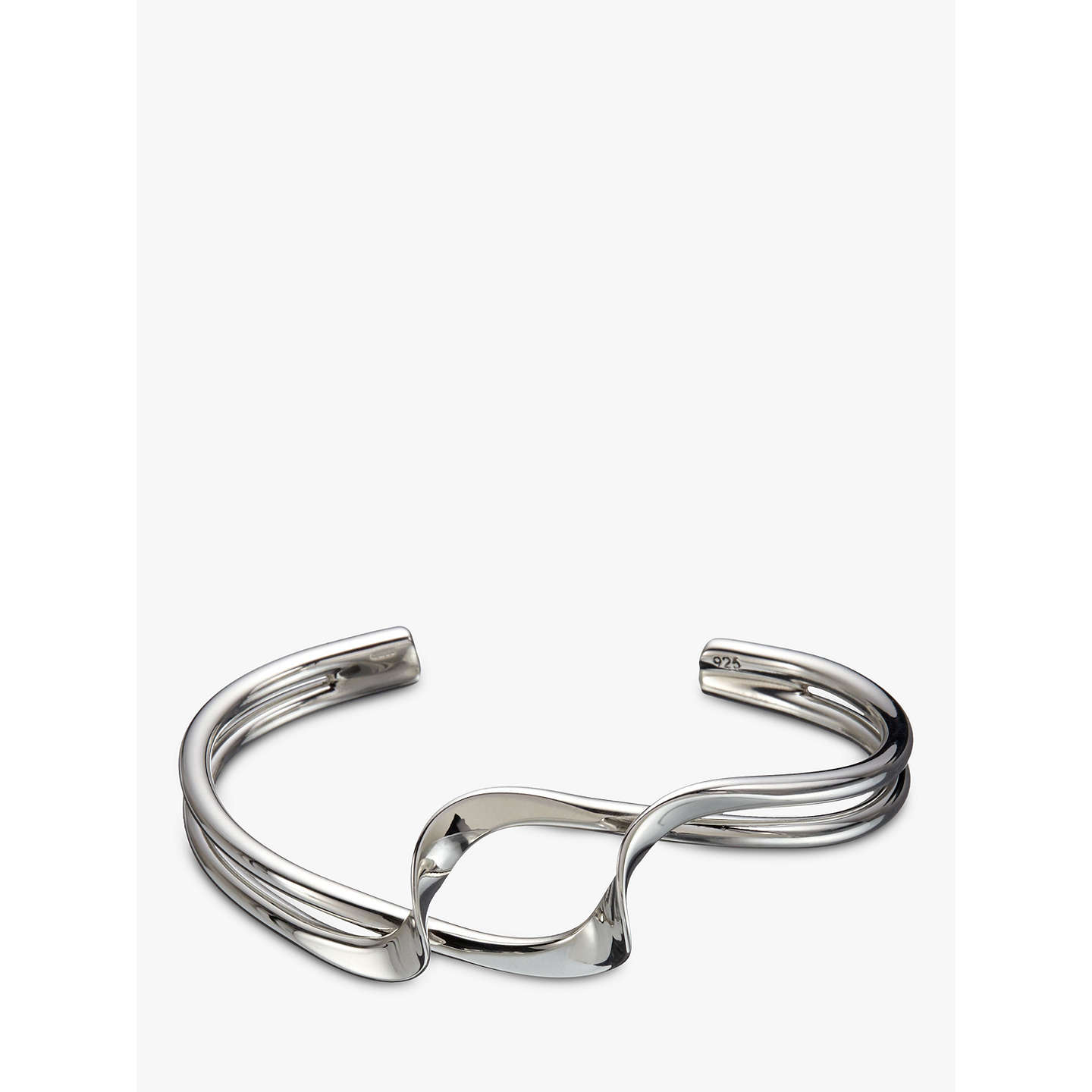 BuyAndea Sterling Silver Double Twist Half Bangle, Silver Online at johnlewis.com