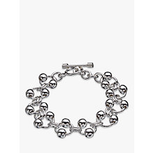 Buy Andea Sterling Silver Balls On Rings Bracelet, Silver Online at johnlewis.com
