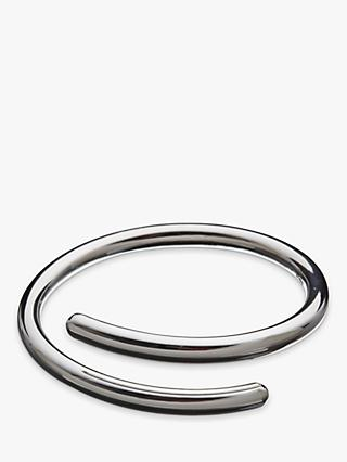 Andea Sterling Silver Overlap Bangle, Silver