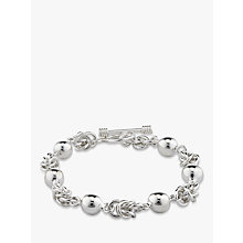 Buy Andea Sterling Silver Ball and Knot Bracelet, Silver Online at johnlewis.com
