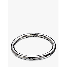 Buy Andea Sterling Silver Thick Hammered Bangle, Silver Online at johnlewis.com