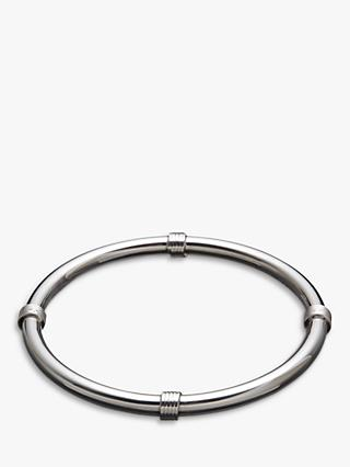 Andea Sterling Silver Coil Twist Polished Bangle, Silver
