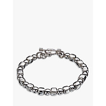Buy Andea Sterling Silver Ball and Cube Bracelet, Silver Online at johnlewis.com