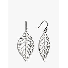Buy Andea Sculptured Leaf Drop Earrings, Silver Online at johnlewis.com