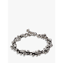 Buy Andea Sterling Silver Beaded Multi-Link Bracelet, Silver Online at johnlewis.com
