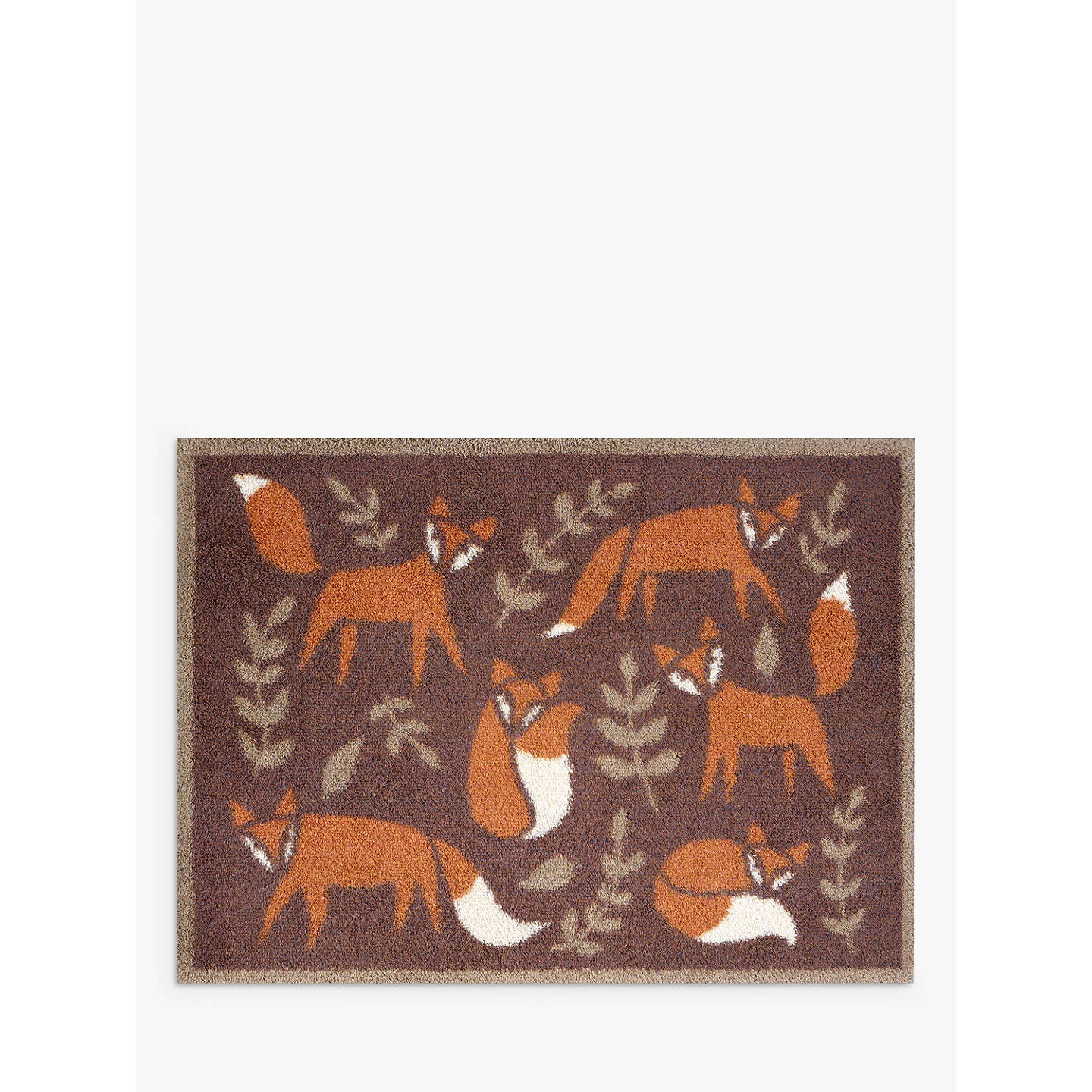 Turtle Mat Folky Foxes Doormat Rug, Brown At John Lewis