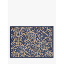 Buy Turtle Mat Morris & Co Thistle Doormat Rug, Blue Online at johnlewis.com