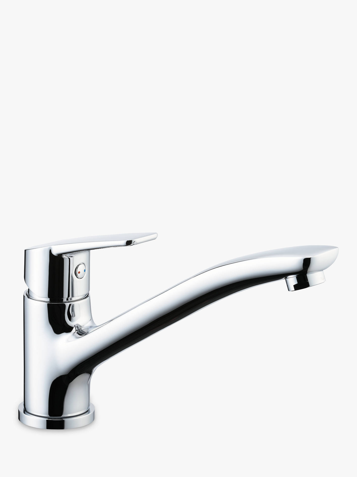 Buy John Lewis & Partners Surf Single Lever Kitchen Tap, Chrome Online at johnlewis.com