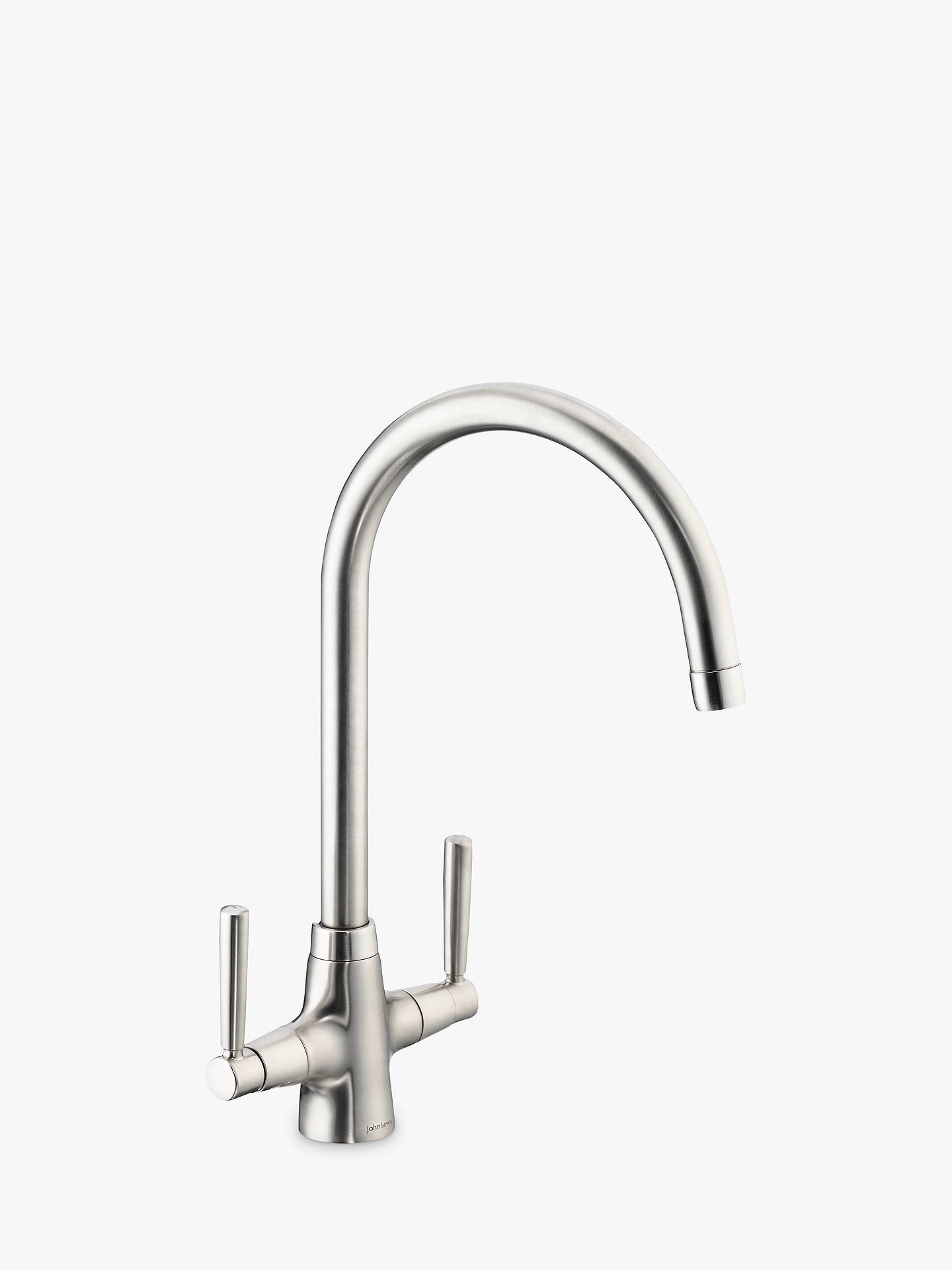 Buy John Lewis & Partners Swan 2 Lever Kitchen Tap, Brushed Nickel Online at johnlewis.com