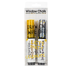 Buy NPW Window Chalk Metallic Markers, Pack of 2 Online at johnlewis.com