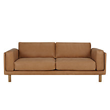 Buy Design Project by John Lewis No.002 Grand 4 Seater Leather Sofa, Selvaggio Parchment Online at johnlewis.com