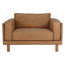 Buy Design Project by John Lewis No.002 Leather Snuggler, Light Leg Online at johnlewis.com