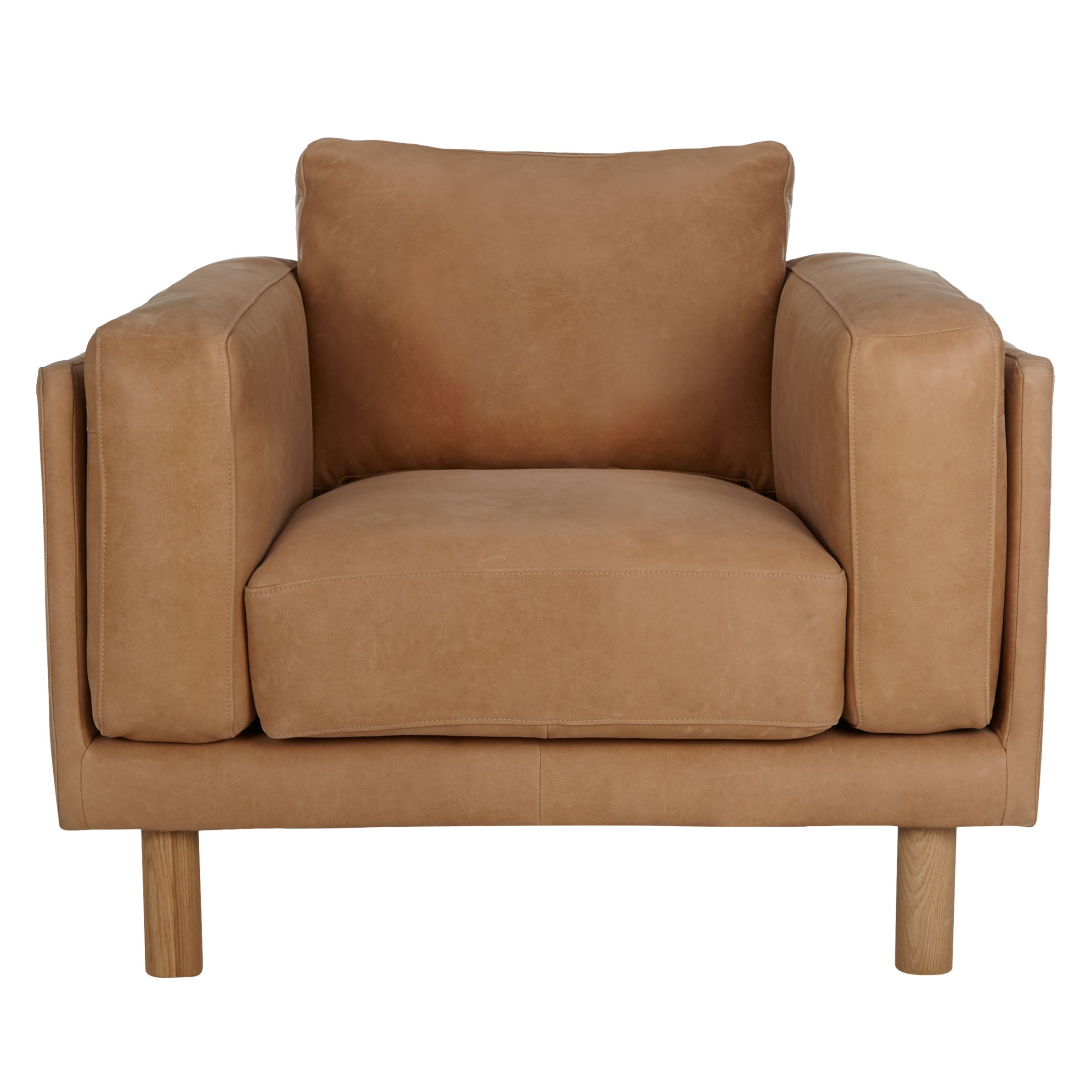 Buy Design Project by John Lewis No002 Leather Armchair John Lewis