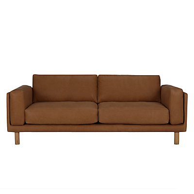 Design Project by John Lewis No.002 Grand 4 Seater Leather Sofa, Light Leg