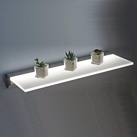 buy john lewis sirius led floating shelf, 900mm | john lewis