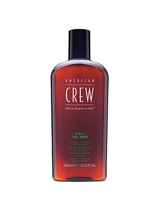 American Crew 3-In-1 Tea Tree Shampoo, Conditioner & Body Wash, 450ml
