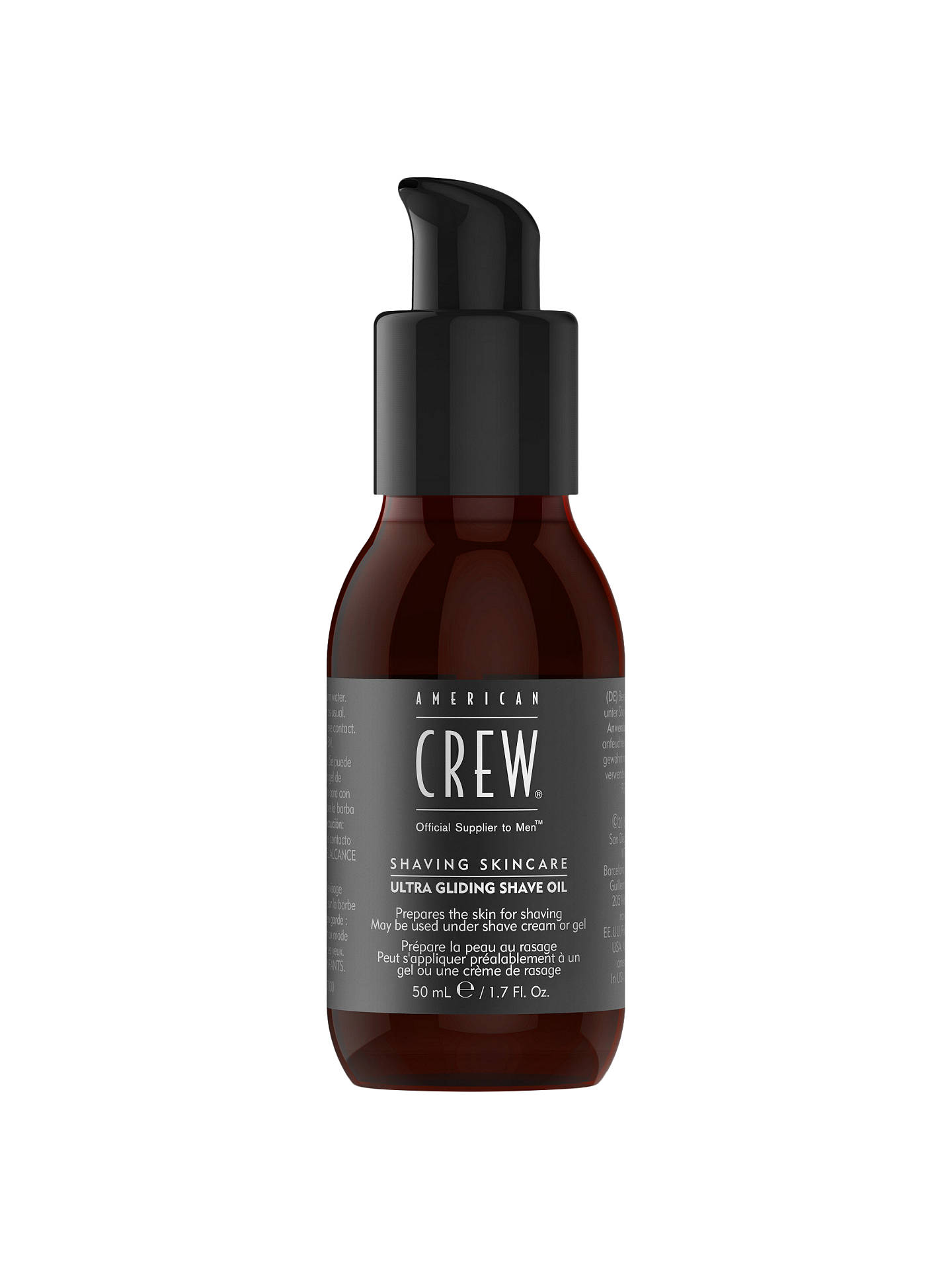 BuyAmerican Crew Ultra Gliding Shave Oil, 50ml Online at johnlewis.com